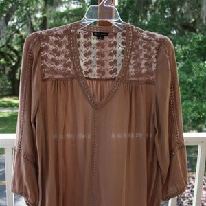 Lightweight blousy top 3/4 sleeves (M)